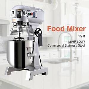 Electric Food Stand Mixer Dough Mixer Multi function Bread Mixing Tool 600w 15qt