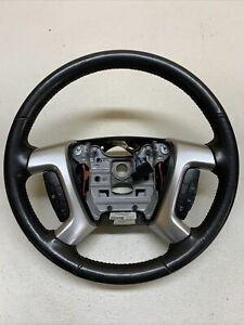 07 10 Gmc Acadia Suv Steering Wheel W Cruise Control Oem Black Leather
