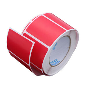 Blank Thermal Transfer Labels Printer Paper Shipping Adhesive Stickers blue