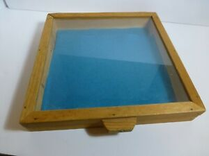 Handmade Display Case Wood And Glass 12x12x2 For Jewelry antiques collectables