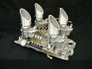 Offenhauser Offy Sbc 4x2 Pacesetter Intake Manifold Vintage Holley 94