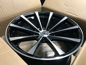 19 Staggered Black Cv1 Concave Style Rims Wheels Fits Honda Accord 5x114