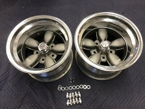 Vintage Pair Of American Racing Daisy Style Wheels 15x10 Chevy 5 On 5 C10 Van