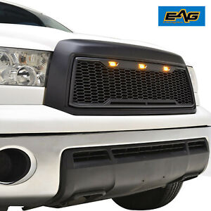 Eag Led Grille Black Abs Replacement Upper Fit 10 13 Toyota Tundra