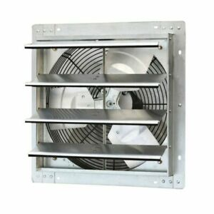 16 Shutter Exhaust Fan 1280 Cfm Industrial Speed Wall Mount Garage Shop Attic