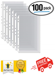 100 box Legal Size Clear Heavyweight Poly Sheet Protectors Gold Seal 8 5