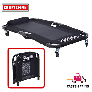 Craftsman Mechanic Mesh Creeper Foldable With 4 Rolling Casters 250 Lbs Capacity