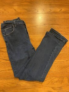 LEE 12 Long womens jeans relaxed fit dark wash 31quot; waist $15.99