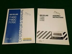 New Holland 714gc 716gc 717gc Cutter Factory Operators Manual assembly