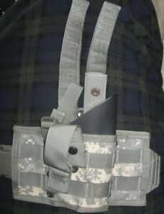 Vapor Tactical ACU Right Hand Thigh Holster Spec Ops Kydex Insert Black M92 $35.00