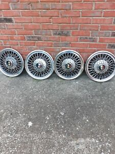 1968 Ford Mustang Spoke Hubcaps Set Of 4