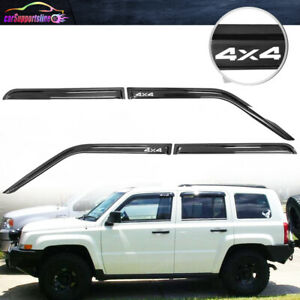 Fit For 07 16 Jeep Patriot 4dr Window Visor Slim Style Deflector Guard W 4x4