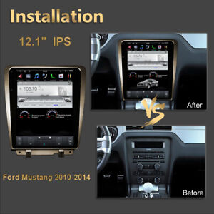 Car Gps Radio Navigation Android 7 Tesla Screen Wifi For Ford Mustang 2009 2014