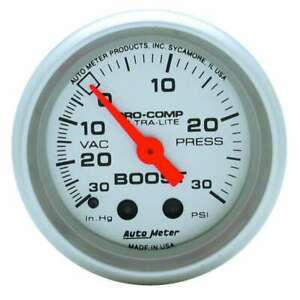 Autometer 2 1 16in Vacuum boost Gauge 4303