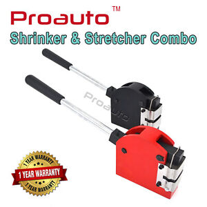 Proauto Hand operated Shrinker And Stretcher Metal Shaping Two Jaws Combo Set