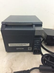 Epson Tm t70ii Thermal Pos Receipt Printer M296a Ethernet Ps 180 Ac Adapter