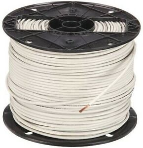 Colonial 500ft Spool 14awg White Stranded Thhn Wire