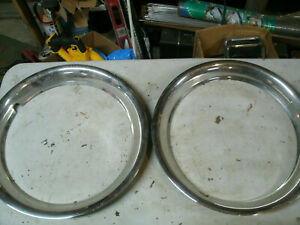 Trim Rings Wheel Hubcaps 16 1980 s 1990 s Pair Chevy Ford Dodge M