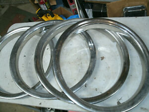Trim Rings Wheel Hubcaps 16 1980 s 1990 s Truck Set Of 7 Chevy Ford Dodge L