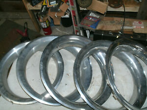 Trim Rings Wheel Hubcaps 15 1970 s 1980 s Original Set Of 5 Chevy Ford Dodge A