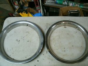 Trim Rings Wheel Hubcaps 15 1970 S 1980 S Pair Chevy Ford Dodge O