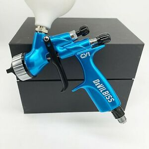 Devilbiss Hvlp Spray Gun Blue Cv1 1 3mm Nozzle Car Paint Tool Pistol