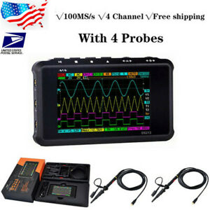 Ds213 Digital Oscilloscope Radio Frequency Analyzer 100m Sa s 4channel 4 Probe