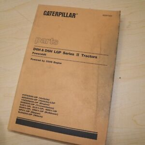 Cat Caterpillar D6h Tractor Crawler Parts Manual Book 4yf 4gg Series Mitsubishi