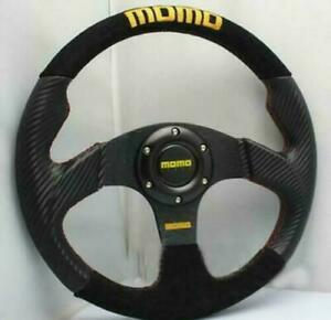 Car Steering Wheel 13 Inch Carbon Fiber Pvc Suede Leather 330 Mm Racing Steeri