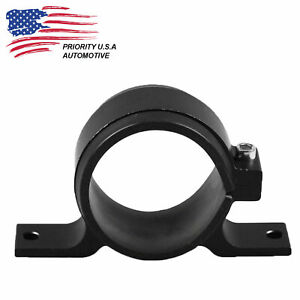Black Fuel Pump Mounting Bracket Single Filter Clamp Cradle 044 60mm Usa