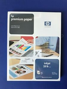 Hp Premium Inkjet Paper 28 Lbs 200 Sheets 51634y Factory Sealed