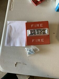 Wheelock Rss 24mcw Fire Alarm Remote Strobe Wall Red And A Wheelock Dsm New