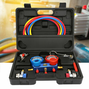A c Air Conditioning Refrigeration Diagnostic Tool Dual Manifold Gauges Valve