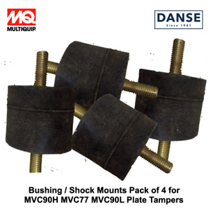 4 Pk Shock Mounts For Mvc90h Mvc77 Mvc90l Plate Tampers By Multiquip 930405011