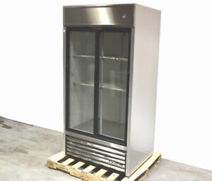 True Tsd 33g 39 5 w Sliding glass Door Reach in Refrigerator Cooler 1 2hp 115vac