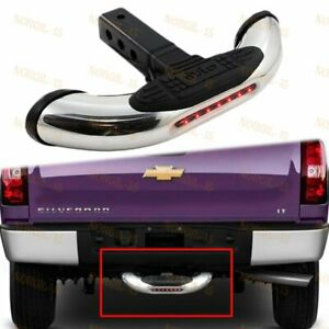 Brand New Universal Steel Chrome Hitch Rear Tow Trailer Led Back Step Bar 1pcs