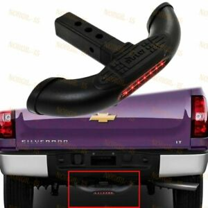 1 25 2 Steel Black Hitch Rear Tow Trailer Led Back Step Bar For Truck Bully