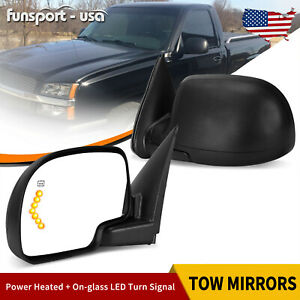 Left Driver Side View Mirror For 03 06 Chevy Silverado Sierra Power Heated