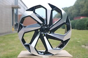 Set Of Four 20x8 5 Black Machined Touring Style Wheels For 5x114 Honda