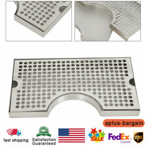 304 Stainless Steel Removable Kegerator Tap Draft Beer Drip Tray 3 Flange Sale