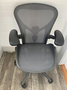 2019 Herman Miller Aeron Remastered Chair Size B Fully Loaded With Posture Fit