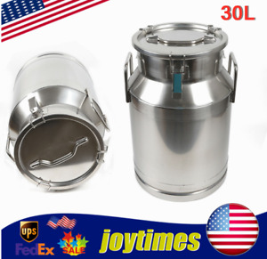 30l Stainless Steel Milk Can Storage Bucket pot barrel container Silicone Seal