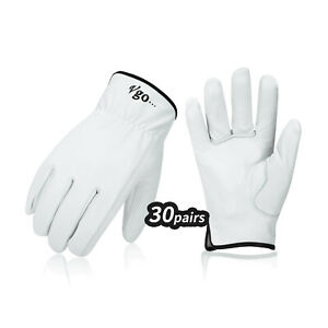 Vgo 3 6 15 30 Pairs Unlined Top Grain Goatskin Work And Driver Gloves ga9501