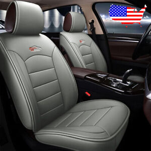 Us Car 5 seat Pu Leather Seat Cover Set For Hyundai Elantra Sonata Ix35 Kia Gray