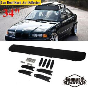 Universal Car Roof Rack Air Deflector 34 Wind Fairing For Chevrolet Ford Toyota
