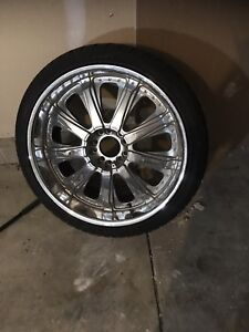 Slightly Used 22inch Tires And Rims
