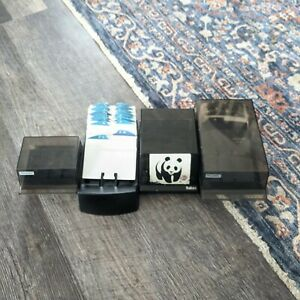 Lot Of 4 Vintage Rolodex And Bates Business Card Files Holders Cvf250