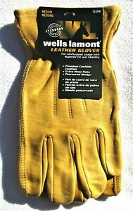 Wells Lamont Premium Cowhide Leather Work Gloves Medium 1209m New Free Shipping