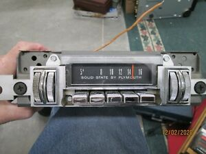 Vintage Plymouth Car Radio 2864 527 Year 1968 69