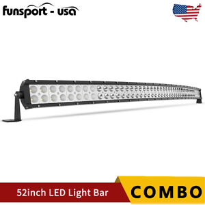 52inch 300w Curved Led Work Light Bar Driving Lamp Spot Flood Combo Offroad Suv